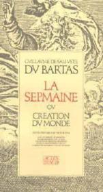 La sepmaine ou creation du monde - Couverture - Format classique