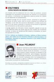 Enzymes. Catalyseurs Du Monde Vivant - 4ème de couverture - Format classique