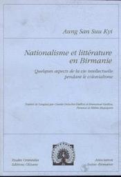 Nationalisme et littérature en Birmanie - Couverture - Format classique