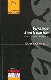 Finance d'entreprise (2e édition) - Intérieur - Format classique