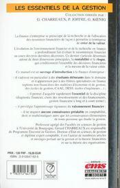 Finance d'entreprise (2e édition) - 4ème de couverture - Format classique