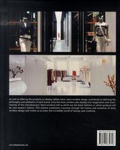 Store window design ; agencement de vitrine - 4ème de couverture - Format classique