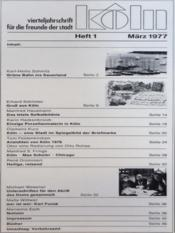 Koln N°1 du 01/03/1977 - Intérieur - Format classique