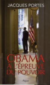 Obama à l'épreuve du pouvoir - Couverture - Format classique