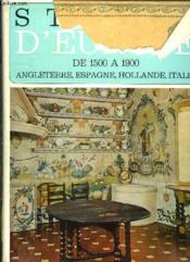 Styles D Europe Angleterre. - Couverture - Format classique