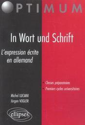 In Wort Und Schrift L'Expression Ecrite En Allemand - Intérieur - Format classique
