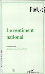 Revue Tumultes N.9 ; Le Sentiment National - Couverture - Format classique