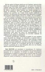 Louis Ii De Baviere Et Ses Psychiatres - 4ème de couverture - Format classique