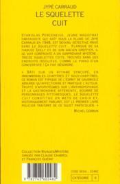 Le Squelette Cuit - 4ème de couverture - Format classique