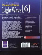 Light Wave 6 - 4ème de couverture - Format classique