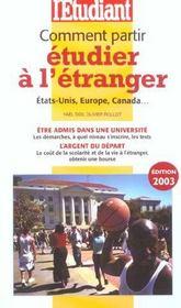 Comment partir etudier a l'etranger (edition 2003) - Intérieur - Format classique