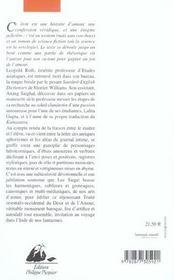 Amour Dans Une Langue Morte (L') - 4ème de couverture - Format classique