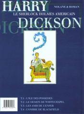 Harry dickson t.4 ; l'ombre de blackfield - 4ème de couverture - Format classique