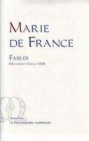 Fables (Manuscrit Harlay 978) – Marie de France, etabli par Nathalie Desgrugillers-Billard