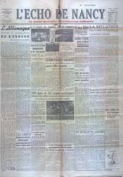 Echo De Nancy (L') N°1027 du 30/09/1943 - Couverture - Format classique
