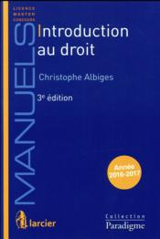 Vente  Introduction au droit (3e édition)  - Christophe Albiges