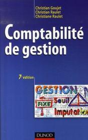 Comptabilité de gestion ; manuel (7e édition) - Intérieur - Format classique