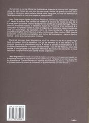 Michel De Nostredame Dit Nostradamus - 4ème de couverture - Format classique