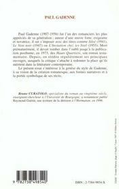 Paul Gadenne ; L'Ecriture Et Les Signes - 4ème de couverture - Format classique