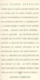 Jean-Pierre Bertrand, Reve D'Isis - Couverture - Format classique