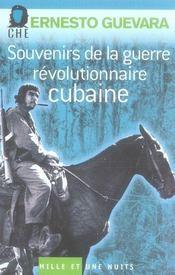 Souvenirs de la guerre révolutionnaire cubaine - Intérieur - Format classique
