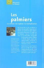 Les Palmiers - 4ème de couverture - Format classique