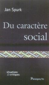 Du caractère social - Intérieur - Format classique