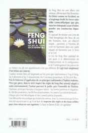 Feng Shui - Un Art De Vivre Occidental - 4ème de couverture - Format classique