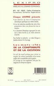 Les mots-cles de la comptabilite... / anglais - 4ème de couverture - Format classique