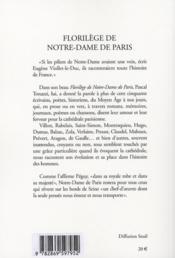 Florilège de Notre-Dame de Paris - 4ème de couverture - Format classique