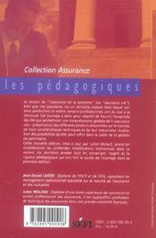 Les cles de l'assurance-vie (2e edition) - 4ème de couverture - Format classique