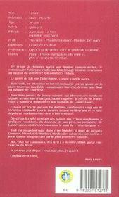 Mary lester t.29 ; le passager de la toussaint - 4ème de couverture - Format classique