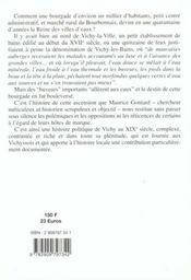 Vichy, l'irrésistible ascension, 1800-1870 - 4ème de couverture - Format classique