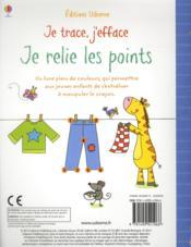 Je Trace, J'Efface ; Je Relie Les Points - 4ème de couverture - Format classique