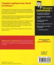 L'anglais pour les nuls ; juniors - 4ème de couverture - Format classique