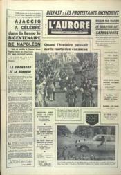 Aurore (L') N°7763 du 16/08/1969 - Couverture - Format classique