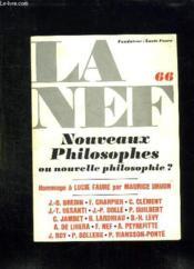 La Nef N° 66 Janvier Avril 1978. Nouveaux Philosophes Ou Nouvelle Philosophie ? - Couverture - Format classique