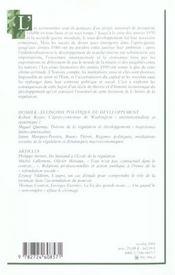 L'année de la régulation ; économie, institutions, pouvoirs t.5 ; 2001-2002 ; dossier économie politique du développement - 4ème de couverture - Format classique