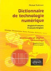 Dictionnaire De Technologie Numerique Dictionary Of Digital Technology Anglais-Francais-Anglais - Intérieur - Format classique