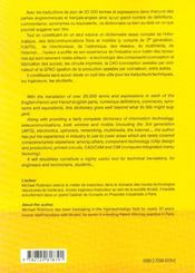 Dictionnaire De Technologie Numerique Dictionary Of Digital Technology Anglais-Francais-Anglais - 4ème de couverture - Format classique