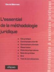 L'essentiel de la méthodologie juridique - Intérieur - Format classique