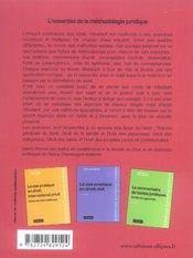 L'essentiel de la méthodologie juridique - 4ème de couverture - Format classique