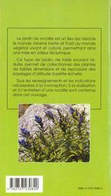 Concevoir ; fleurir sa rocaille - 4ème de couverture - Format classique