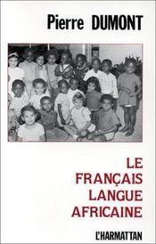 Le français langue africaine - Intérieur - Format classique