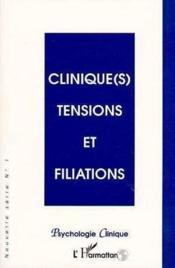 Clinique(S) Tensions Et Filiations - Couverture - Format classique