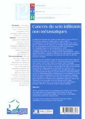 Cancers Du Sein Infiltrants Non Metastatiques ; 2e Edition - 4ème de couverture - Format classique