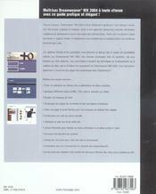 Dreamweaver Mx 2004 - 4ème de couverture - Format classique