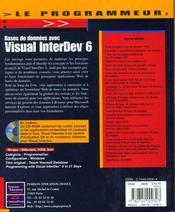 Le Programmeur Bd Avec Visual Interdev 6 - 4ème de couverture - Format classique