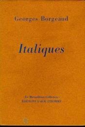 Italiques - Couverture - Format classique