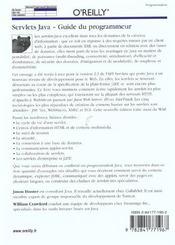 Servlets Java Guide Du Programmeur 2e Edition - 4ème de couverture - Format classique